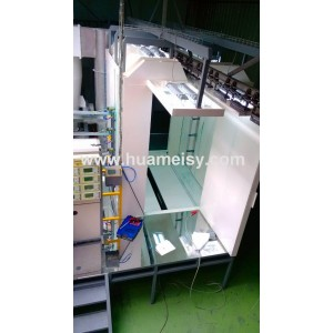 quick color change powder booth with mono cyclone recovery system